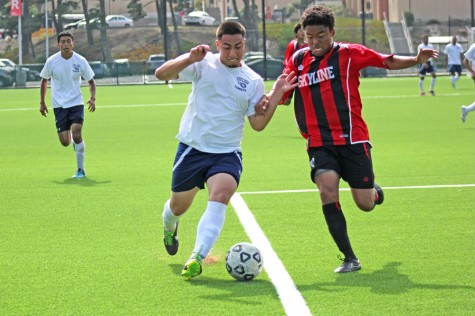 Men's soccer team holds onto 2-1 lead