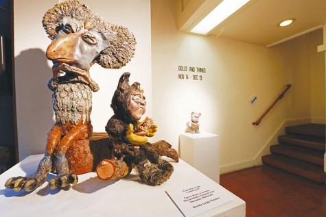 Monstrous features embellish sculptures