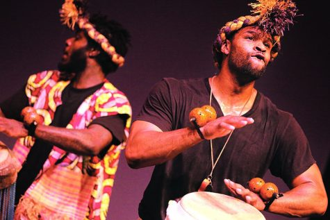 Percussion, language laud African heritage