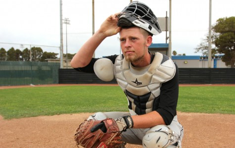 """Comet catcher Lawrence """"Davey"""" Duncan leads the Bay Valley Conference with the least passed balls as a catcher. Duncan is known for the loud vocal leadership he brings to the Comet baseball team."""