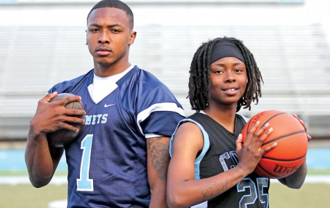 Quarterback Jonathan Banks and guard Ahjahna Coleman earned 2014-15 Athlete of the Year  honors for their leadership and outstanding performance on the field and on the court.