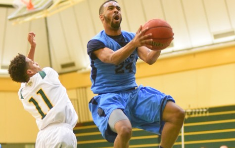 Comet forward Justin Johnson jumps for a lay up during CCC's 82-69 win against the Storm at Napa Valley College on Feb. 20, 2014.