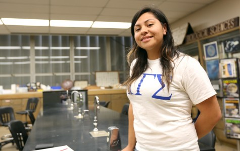 Brenda Vega, Alpha Gamma Sigma president, METAS tutor and Kennedy-King Scholarship recipient is driven by her passion to bring her parents back to the U.S.