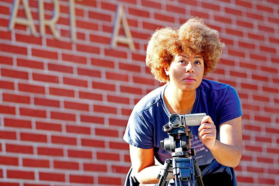 Communications major  Sakeema Payne aspires to create films focusing on themes of love and romanticism after shooting videos for the various departments on campus.