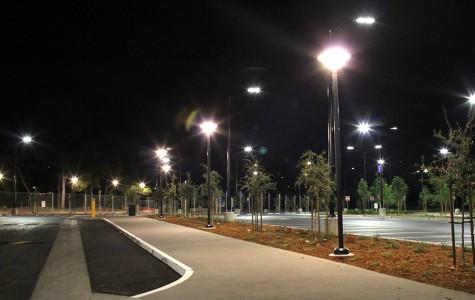 LED lighting illuminates path