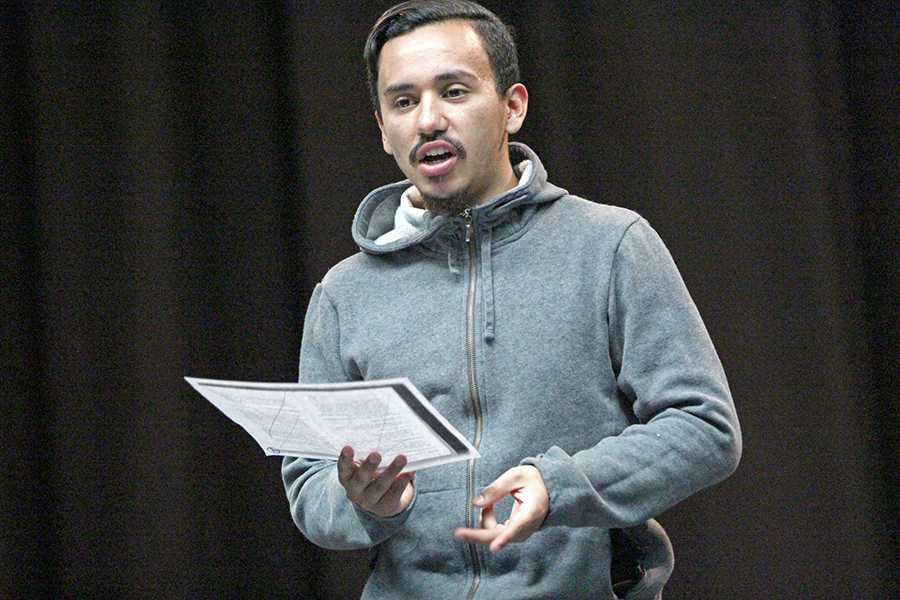 Drama major Oz Herrera-Sobal has shown his passion for acting by performing in multiple plays on campus since 2014. Herrera-Sobal is an avid cyclist and bikes whenever possible.