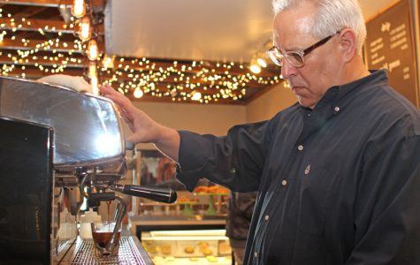 East Bay Coffee Company owner Bill Ancira extracts espresso for a customer at its location in Pinole on Monday. Ancira said he plans expand to more locations, including Church Lane in San Pablo.