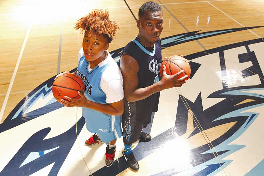 Forward Larry Wickett and guard Julian Robinson earned 2015-16 Athlete of the Year  honors for their leadership and outstanding performance on and off the court.