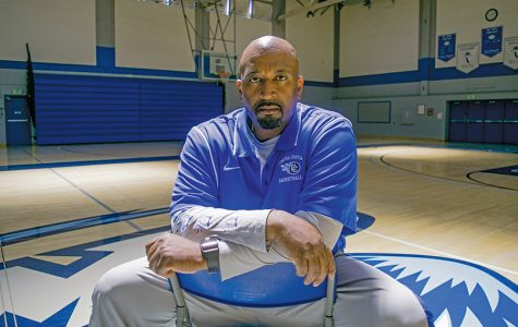 Men's basketball coach Miguel Johnson received Coach of the Year honors in the Bay Valley Conference after successfully leading the Comets to a conference title.