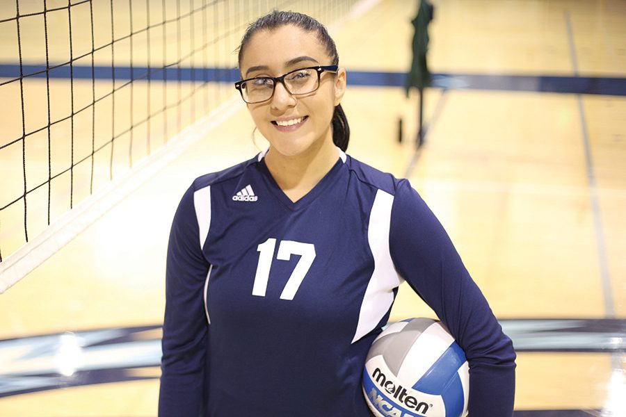 Outside hitter Alejandra Galvez plans to study software  engineering after discovering a passion for computer programming and coding.