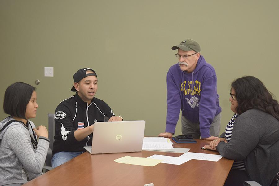 The Alphabet club discusses possible campus events during the ASU meeting on Monday