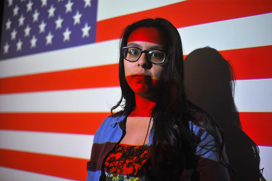 Denis Perez / The Advocate Nursing major Leamsi Amaya was interrogated for an hour in Chicago International Airport after presenting her high school ID for identification while going through security. Amaya feared showing her Mexican consular identification card and passport would get her deported to Mexico.