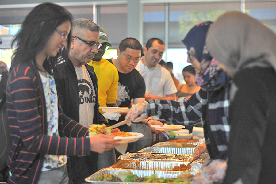 Muslim Student Association's Fast-a-Thon, a day long event, featured a celebration banquet for students who pledged $5 to fast. The pledges were invited to a banquet celebration to break their fast hosted in the Fireside Hall on April 20.