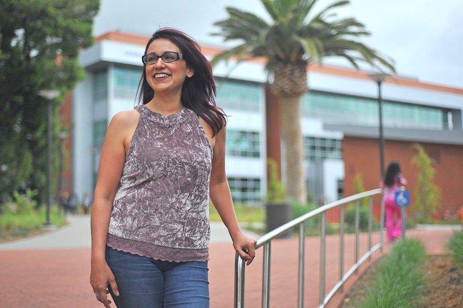 Counseling assistant Leticia Mendoza hasa built a successful career at the college she attended. Mendoza holds a reputation on campus as an empathetic figure to the English as second language (ESL) community at Contra Costa College.