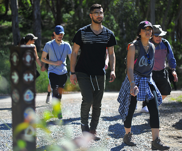 The Outdoor and Adventure club gather at Inspiration Point in Tilden Regional Park for a hike in Berkeley, Calif on April 30th.