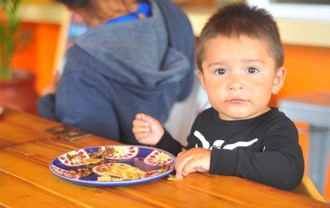 Richmond resident Leo Acosta eats a taco at El Trompudo restaurant in El Sobrante on Monday