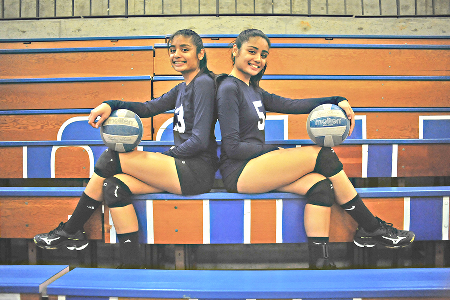 Sophomores Justine (left) and Joshleen (right) Ayson are starters for the 2017 Comet volleyball team.