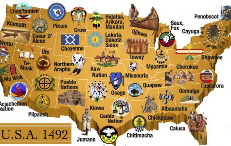 A partial map of native tribes and nations in the United States before the Columbus colonization period.