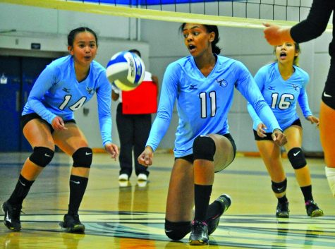 Volleyball team falls in rout