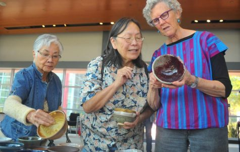 Diners fill up bowls for charity