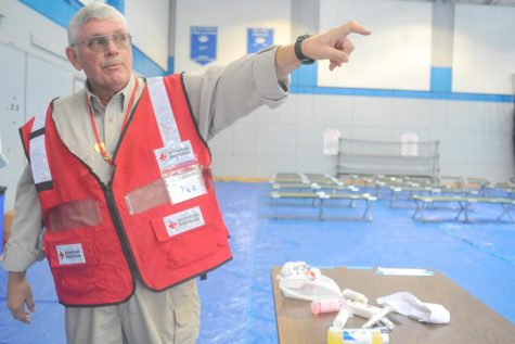 Gymnasium converted to Red Cross Shelter after fires ravage Northern California