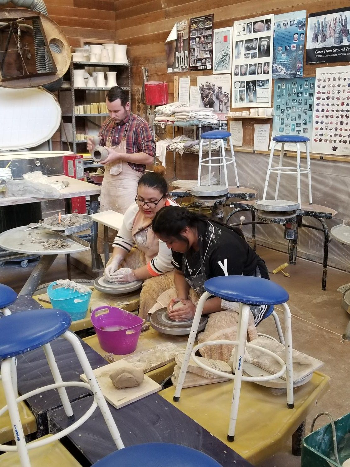 Art students create bowls in the Art Building for the Pottery Event held on Nov. 7 through Dec. 1 in Fireside Hall.