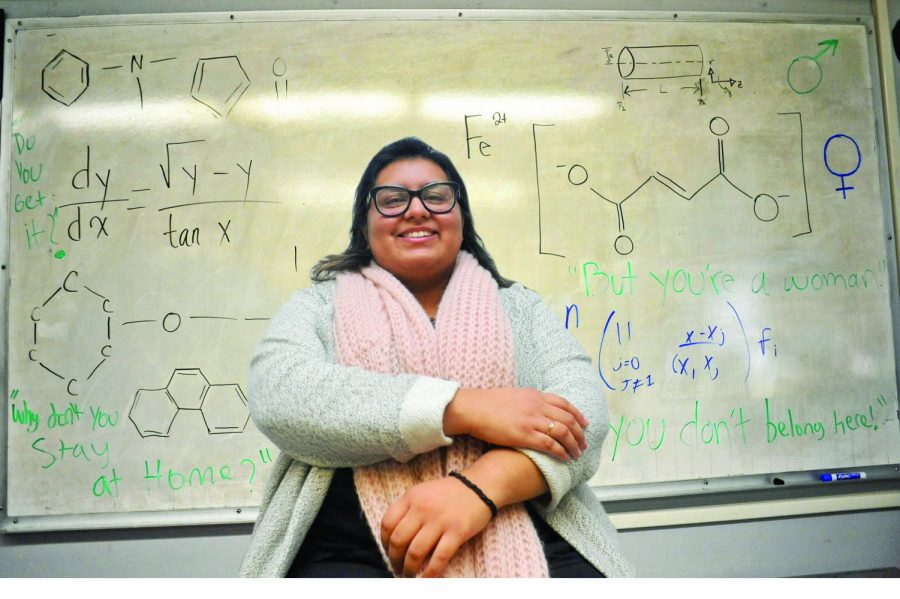 Chemical engineering major Aidee Guzman has dealt with being challenged as a woman in the field of engineering.