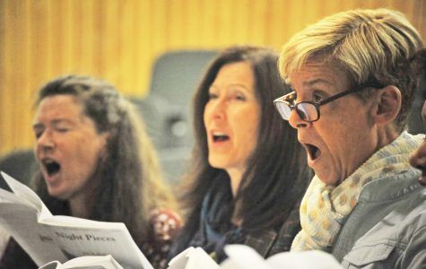 Chamber singer Laura Krast (right) sings during a recent rehearsal. The Contra Costa Singers' will perform at Carnegie Hall during Gotham Sings!, an annual performance series that showcases choirs, orchestras, bands and music programs.
