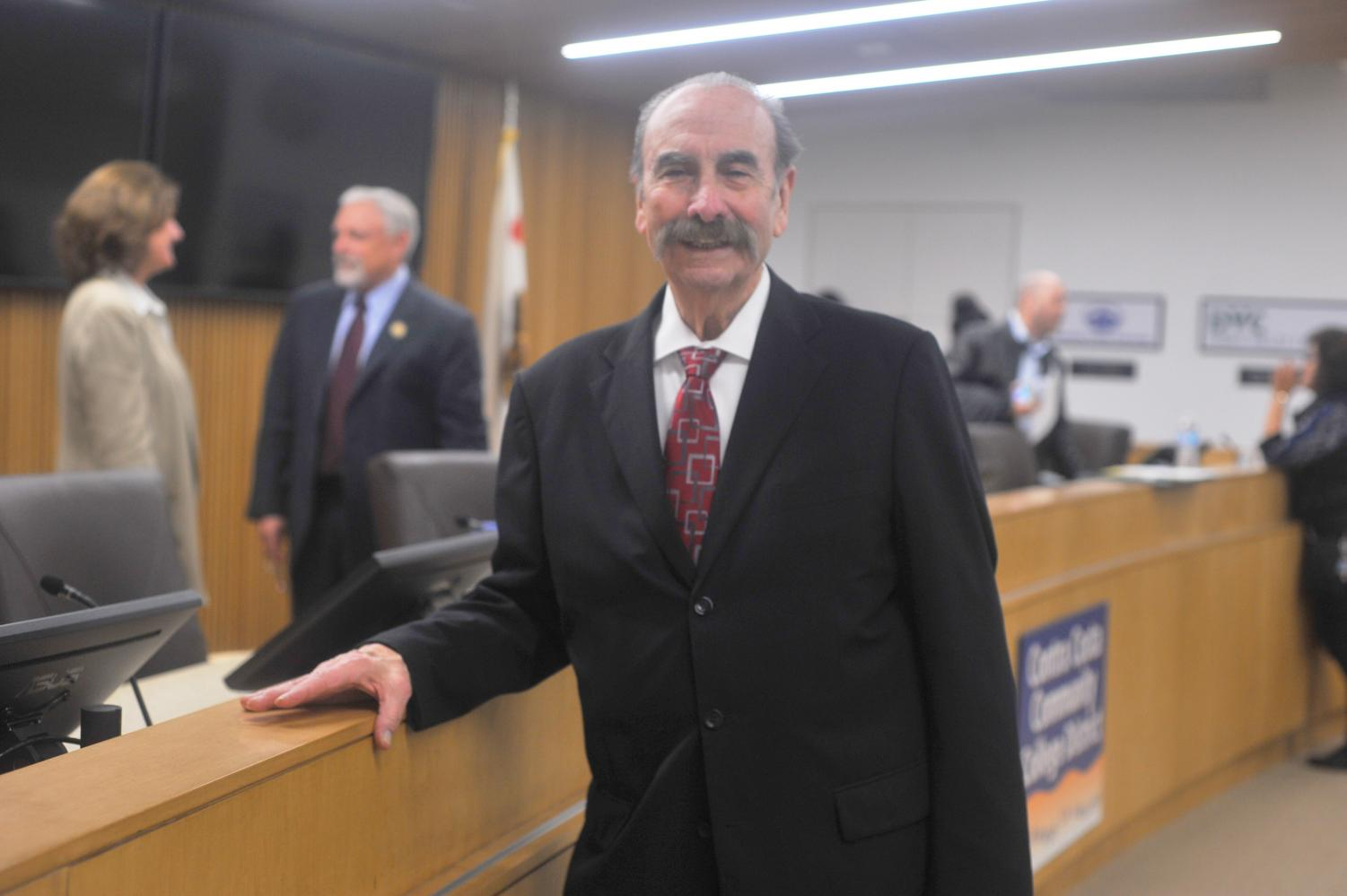Contra Costa Community College  District Ward I Trustee John Marquez  was elected president of the Governing Board  on Monday after the resignation of former president Timothy Farley.
