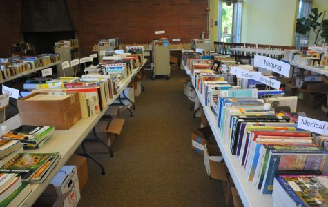 Hundreds of books available at book sale