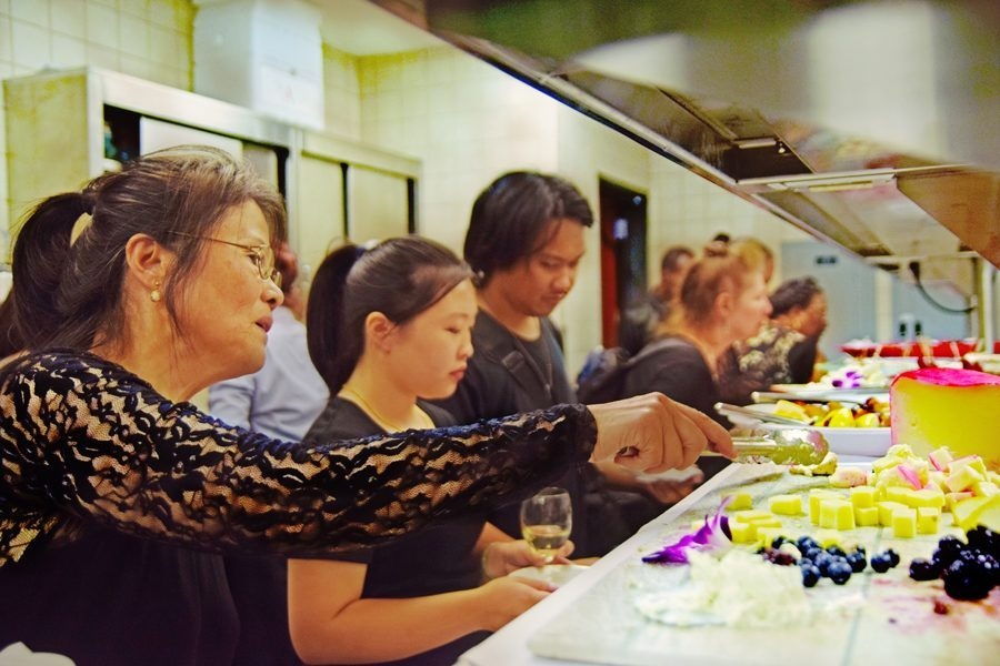 The Chocolate and Champagne event, hosted by the culinary arts department, offers a variety of foods to taste and savor.
