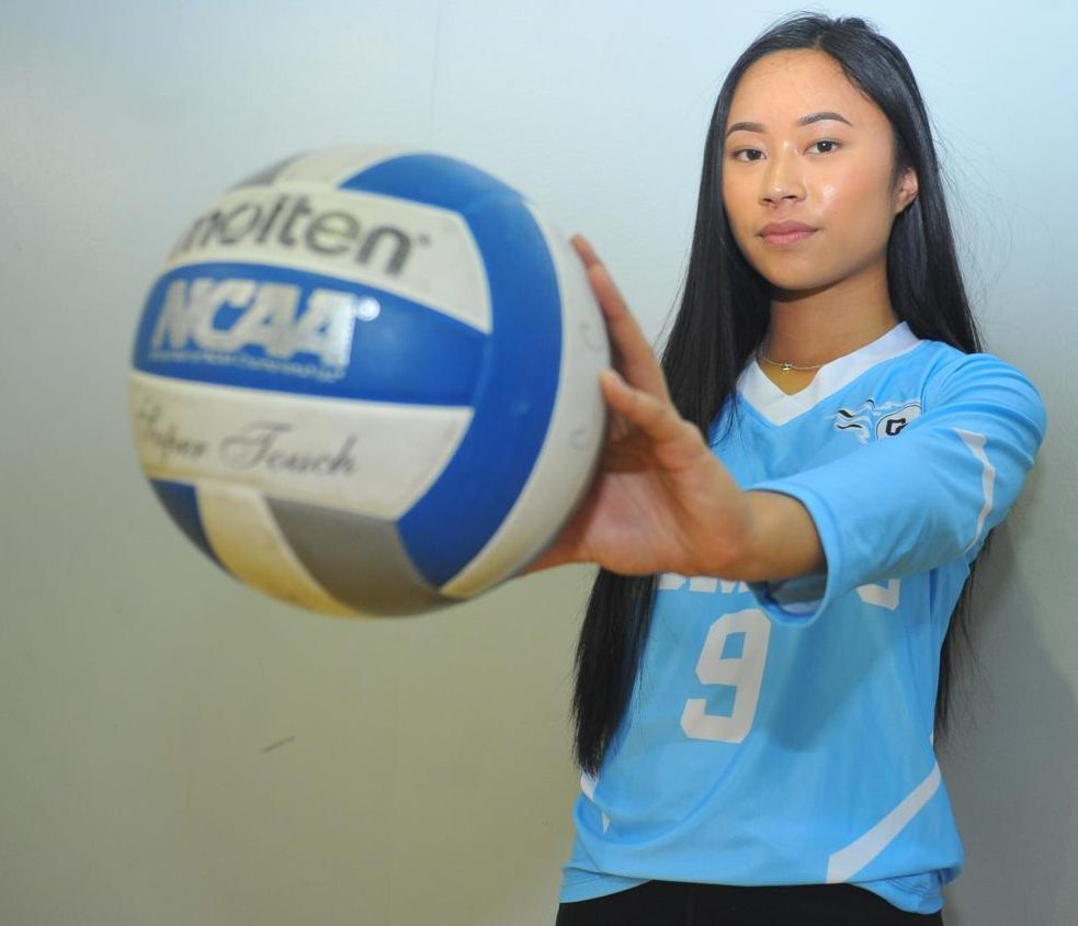 Comet setter Kimberly Calip is ranked seventh in assists in the Bay Valley Conference. She has been playing volleyball since the eighth grade and is a freshman on the Contra Costa College volleyball team.