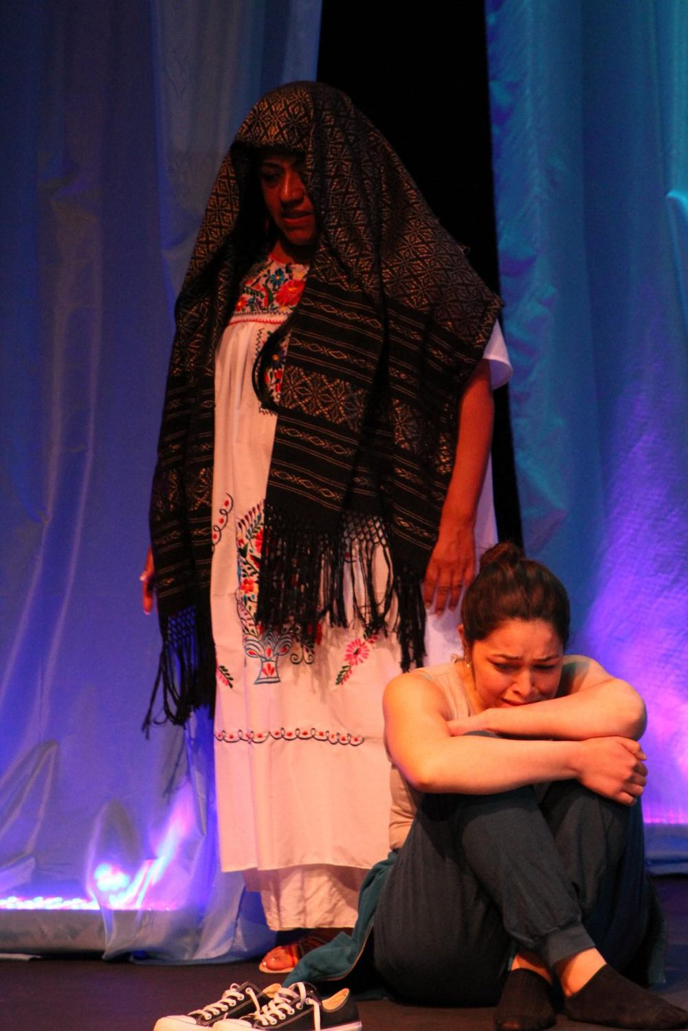 Silvia Sobal (left) as La Llorona in