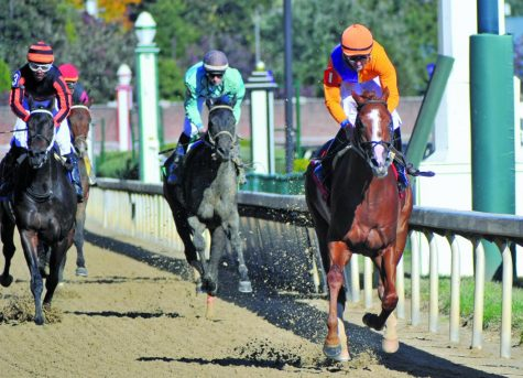 Horses, jockeys compete at Churchill Downs