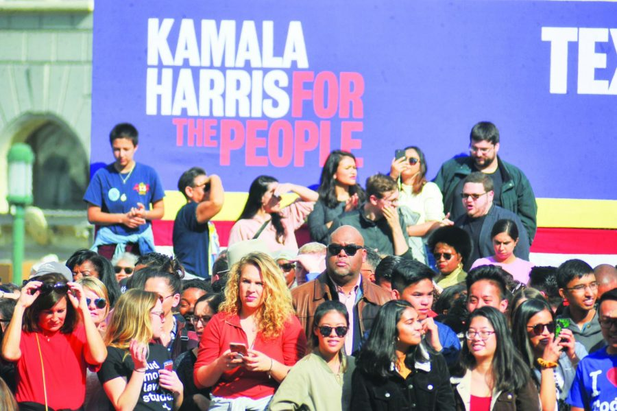 More than 20,000 people  showed up to support  presidential hopeful U.S. Senator Kamala Harris  at her campaign kickoff rally in her hometown of Oakland, California  on Jan. 27.