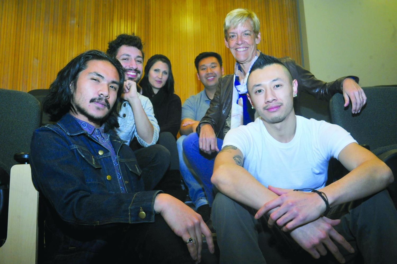 Members  (left to right)Nino-Angelo Lastimoso, Matthew Chamberlain,  Natasha Singer, Joseph Saeteurn, Laura Karst and Jesse Chao make up Contra Costa College's JAZZ-ology.