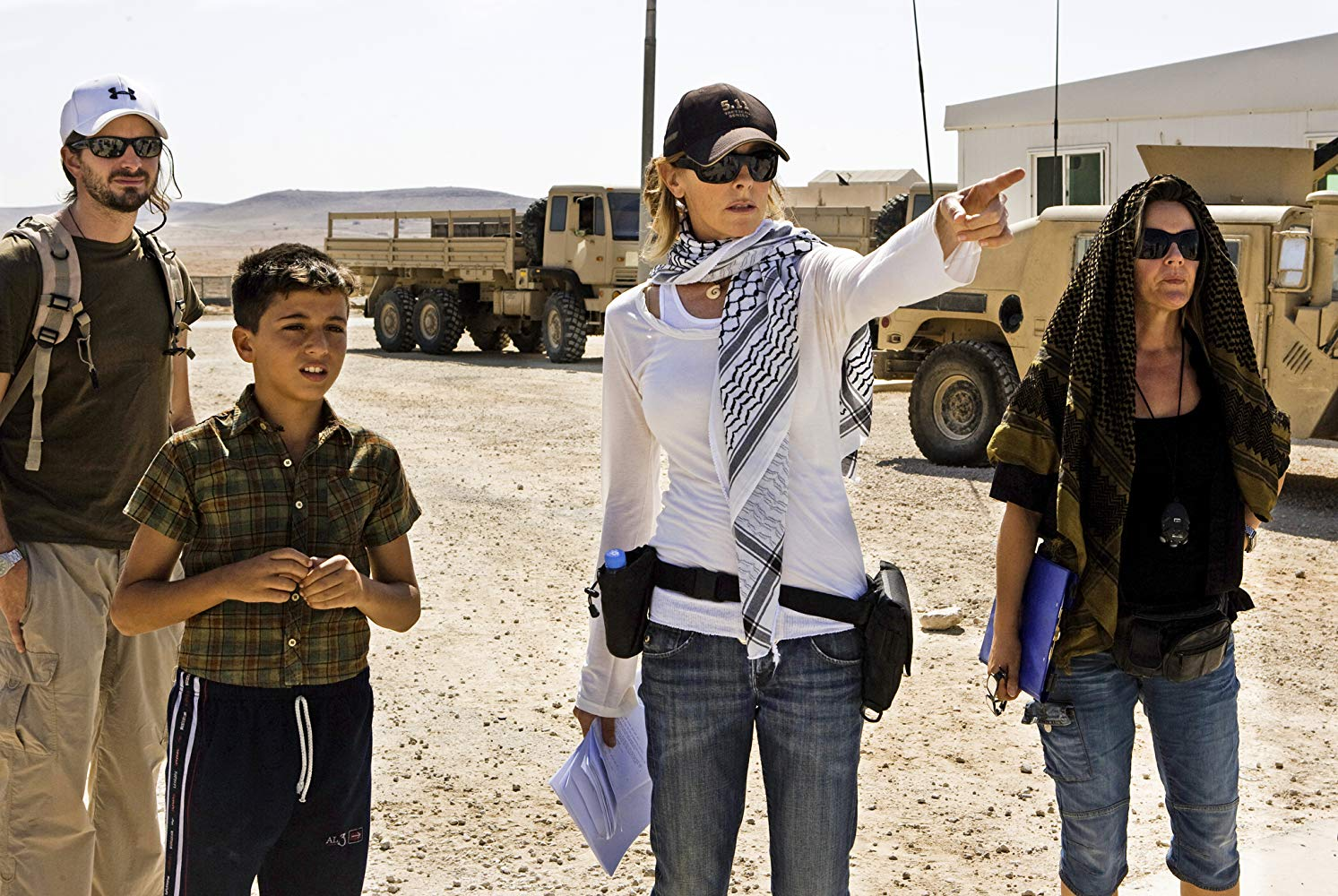 Kathryn Bigelow on the set of