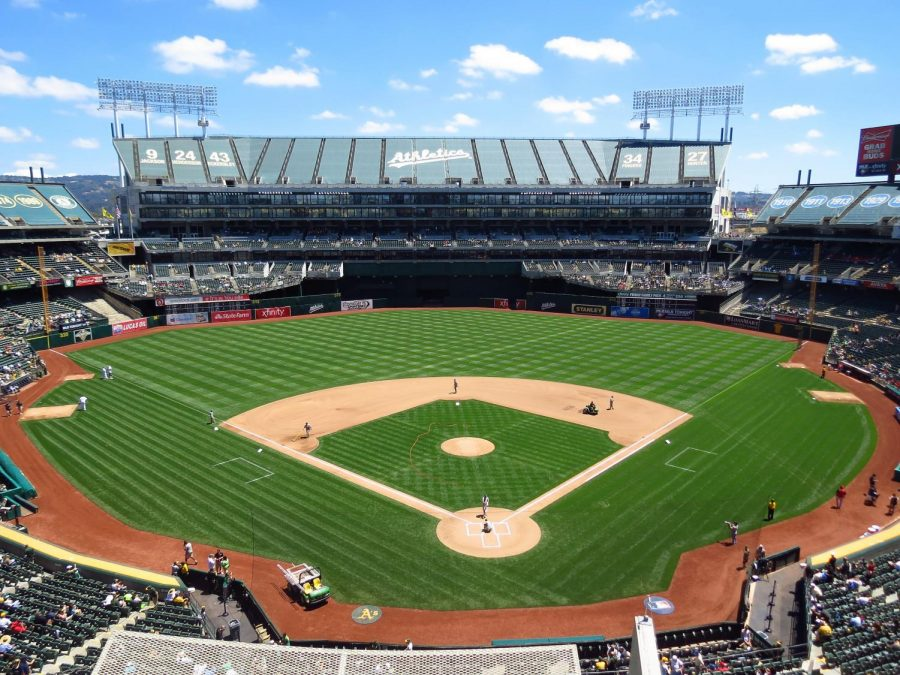 Oakland+Athletics%27+home+stadium%2C+McAfee+Coliseum%2C+in+Oakland%2C+California.