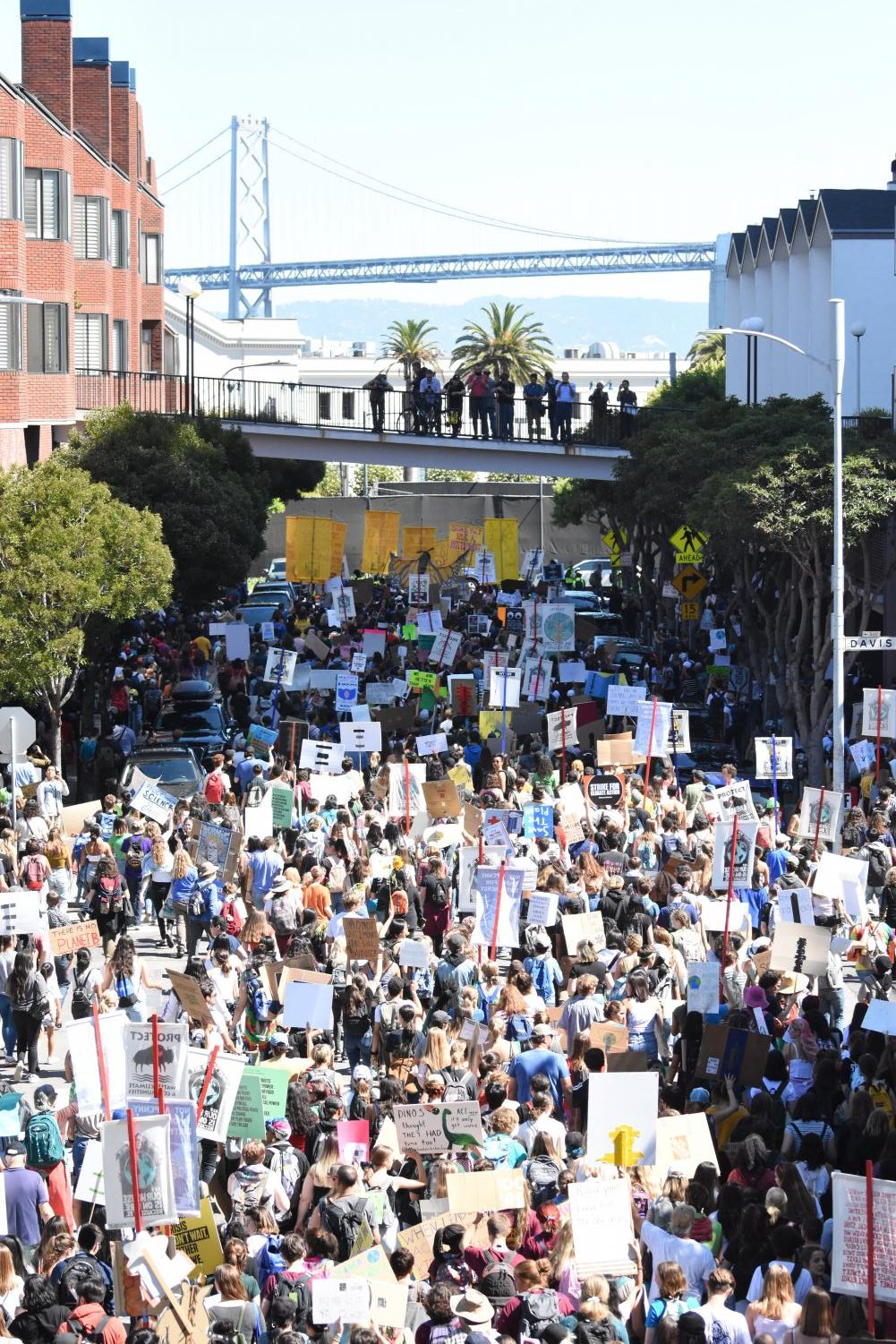 Around 30,000 people marched in San Francisco as part of an international protest over climate justice  on Friday.
