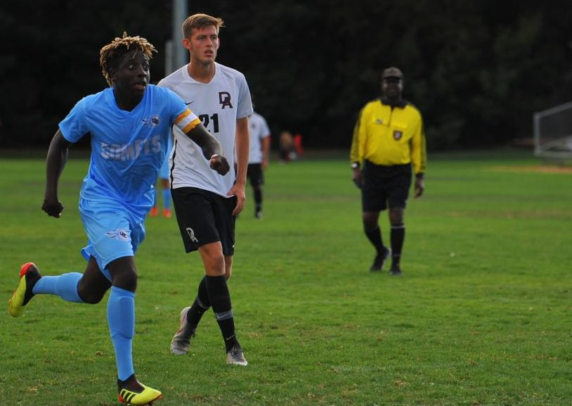 Comet sophomore Elijah Musah Paul-Gindiri is a starting striker for the men's team.