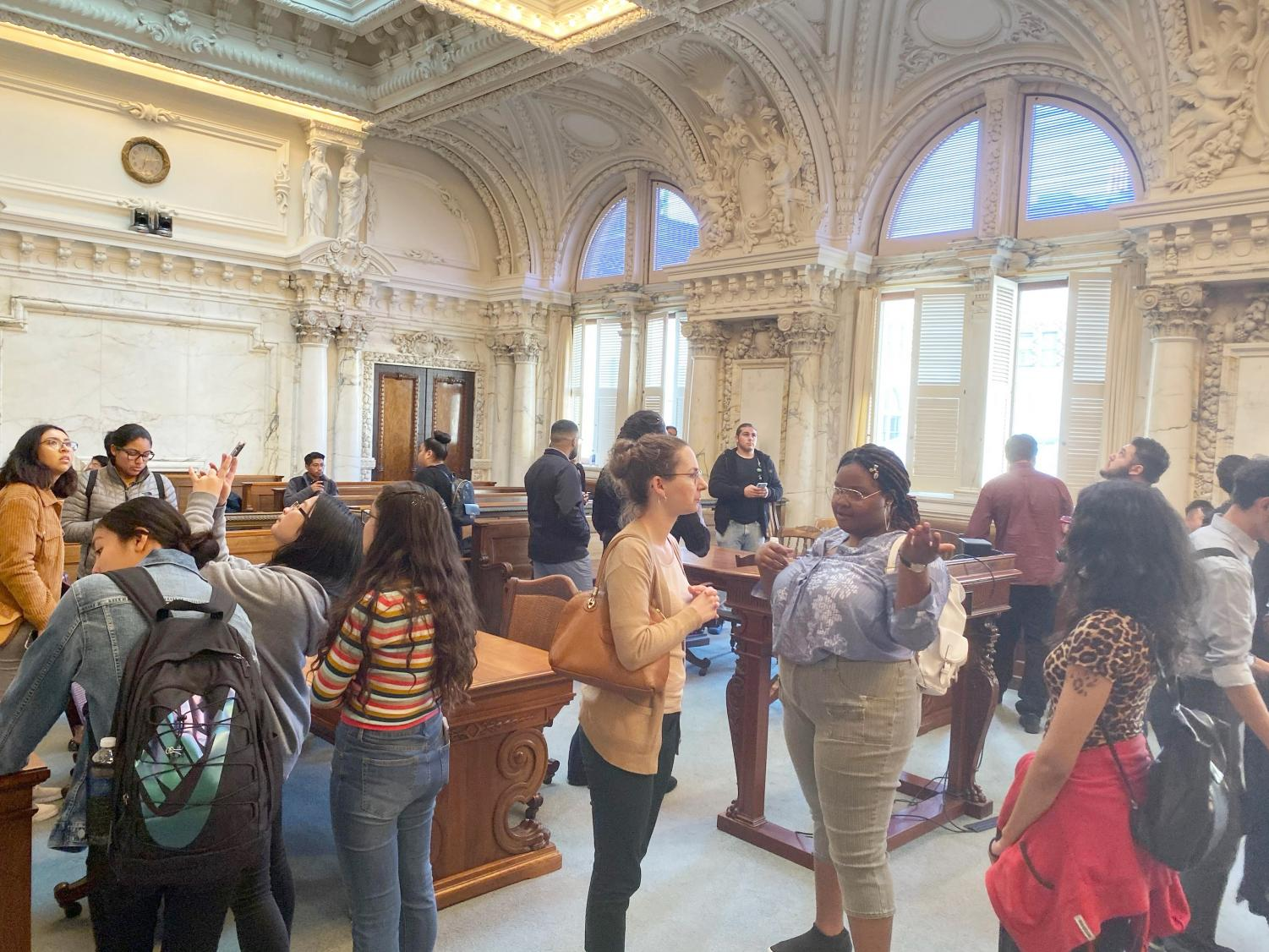 Political science classes from Contra Costa College took a tour of the Ninth Circuit United States Court of Appeals in San Francisco on Friday.