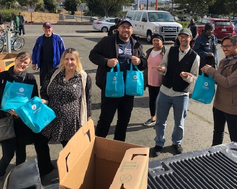 Members of the Inter- Clubs Council distribute care packages to local community partners such as Rubicon, GRIP and Bay Area Rescue Mission on  Nov. 27