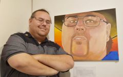 """Multi-dimensional art student Steven Bernt presents his multi-faceted artwork entitled """"Growth"""" is presently being shown in the Eddie Rhodes Gallery in A-5."""