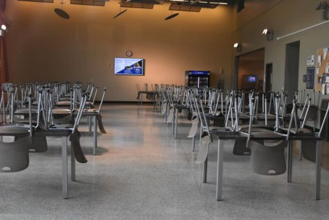 The Student Dining Hall remains empty as Contra Costa Community College District campuses are closed due to Coronavirus concerns.