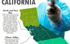 Information that spots that places in California where cases of the novel coronavirus have appeared with information up to date on March 3, 2020. Sourced by the Los Angeles Times.