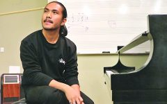 """Ninoangelo Lastimosa collaborated with drama professor Carlos-Manuel Chavarria on the music composition for the play """"Frida Kahlo: The Artist; The Woman."""""""