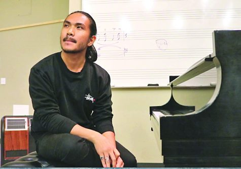 "Ninoangelo Lastimosa collaborated with drama professor Carlos-Manuel Chavarria on the music composition for the play ""Frida Kahlo: The Artist; The Woman."""