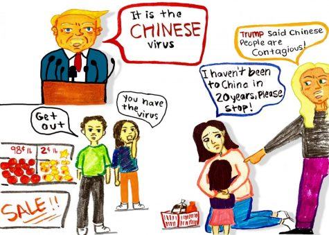 Editorial cartoon: Chinese virus