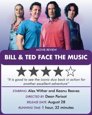 """Bill & Ted Face the Music"" made its way to select theaters and streaming sites Aug. 28, with a production budget of $25 million."